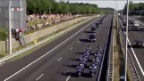 Motorcade for the victims of flight MH17 returning