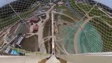 Downhill from the tallest waterslide in the world