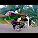INSANE DEATHDEFYING MOPED STUNTS