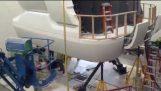 Installation of a full scale 737 flight simulator