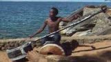 非洲马拉维的巡回音乐家