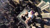 เซลฟี่บ้าจากตึกระฟ้าในฮ่องกง