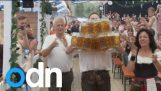 Man sets world record for carrying the most beers
