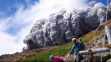 火山灰覆盖的