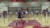 The most impressive defense in volleyball match