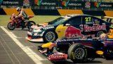 Formula 1 vs Supercar vs Μοτοσικλέτα