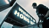 Chakarontas et stort skilt i Hong Kong