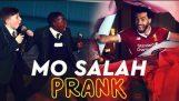 Football player Mohamed Salah surprises kids
