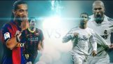 Messi & Ronaldinho vs Cristiano Ronaldo & Zidane ● Top 10 Goals Battle ● El Clasico Legends