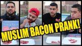 """Muzulmánok enni """"igazi"""" szalonna"""