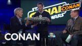 Jordan Schlansky Asks Harrison Ford To Sign His Millennium Falcon