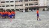 Children jump rope in Japan