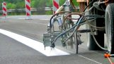 Amazing Road Lines Painting / Marking Machine Compilation