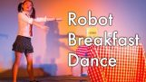 רק רובוט מנסה לאכול ארוחת בוקר