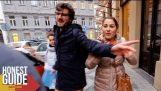 A deaf and dumb woman starts to speak (Prague)