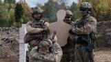 Perceuse extrême des Forces spéciales russes avec des balles réelles