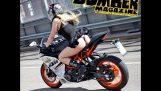 Bomber Babe første tur @ KTM RC 390