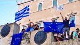 Μένουμε Ευρώπη συγκέντρωση Σύνταγμα | Pro-EU Protest Greece 2015