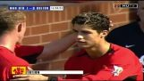 Ronaldo ilk Man Utd renkleri