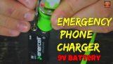 Hvordan lade telefonen med 9v batteri