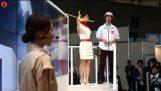 CEATEC 2015: Lazurite Fly Origami Drone Crane