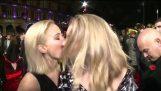 Jennifer Lawrence & Natalie Dormer kiss