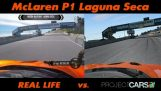 Project CARS vs Real Life – McLaren P1 @ Laguna Seca