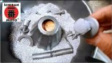 How to make a Vibrating Parts Tumbler Rust Remover and Polisher for café racer parts