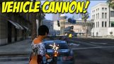 "Vehicle Cannon Mod! – ""Car Gun"" For Grand Theft Auto 5 PC"