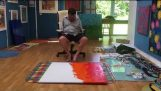 This man paints with his feet