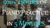 Úplný začátečník Practices Piano pro 500+ hodin (18 měsíců Progression Video)
