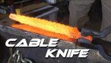 Forjare un cuţit de cablu