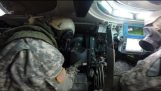 Charging of the tank gun – M1 Abrams