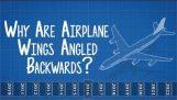 Hvorfor er fly vinger vinklet bakover??