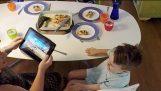 Tecnologia tem desviado do jantar de família