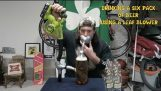 Piť 6 pív za 40 sekúnd s odfukovače