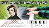 Cum sună secvența lui Fibonacci la pian;