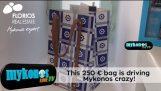aktentas… tin dan € 250 die een grote plons in Mykonos maakt