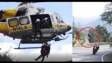 MOTORCYCLE RIDER CRASHES/FALLS OFF CLIFF