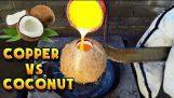 Vs cuivre fondus de noix de coco