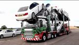 Fast unloading new cars