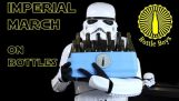 Four Storm Troopers Playing Imperial March on Bottles – Star Wars (Bottle Boys)