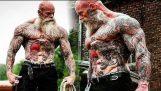 Workout Monster? Old Tattooed Bodybuilder