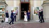Confetti canons during a wedding (Fail)
