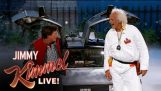 Marty McFly & Dr. Brown visite Jimmy Kimmel ao vivo