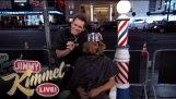 Jim Carrey Gives People Bowl Cuts on Hollywood Blvd