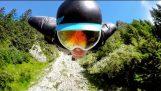 GoPro: 2500m Шамони крилат костюм Flight
