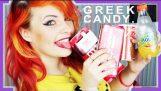 英国女孩试图希腊糖果