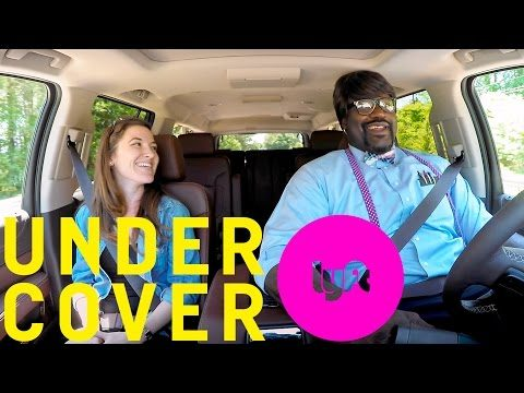 undercover lyft with shaquille o neal videoman