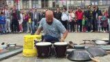 Utrolig trommeslager i Amsterdam #Dario Rossi trommeslager